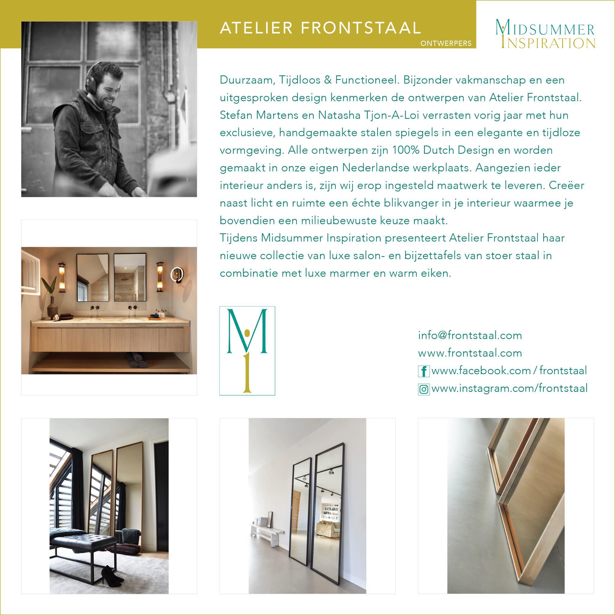 Maak kennis met Atelier Frontstaal tijdens Midsummer Inspiration 2019