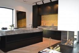 Frontstaal XXL stalen spiegel brons met gebronsd glas (220x100 xm)