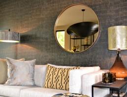 Frontstaal stalen spiegel brons rond 90cm | Violier at Home