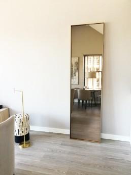Frontstaal XL stalen spiegel   Brons met gebronsd glas