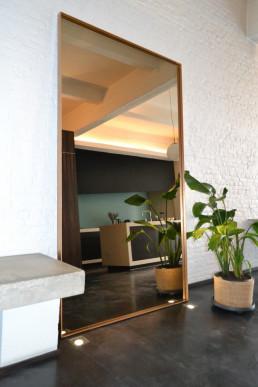 Frontstaal XXL stalen spiegel brons, gebronsd glas | Loft (Antwerpen)
