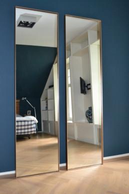 XL stalen spiegels brons met helder glas | Master Bedroom (Soest)